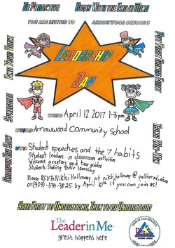 Student-made and inspired Leadership Day invitation