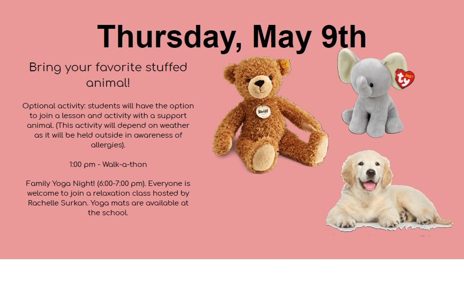 Thursday Activities!!! | Cold Lake Elementary School