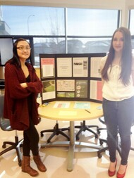 Students presenting their research