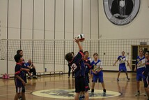 St. Dominic Volleyball Team at play