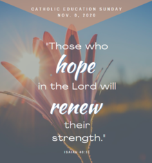 Catholic Education Sunday