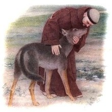 St. Francis of Assisi with wolf picture