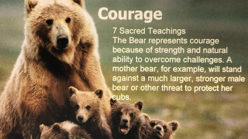 Courage Bear - Sacred Teachings poster