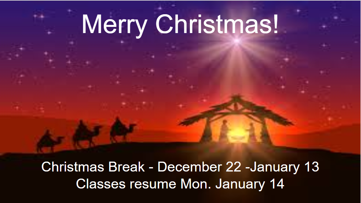 Christmas Break December 22 January 13 St Patrick S Community