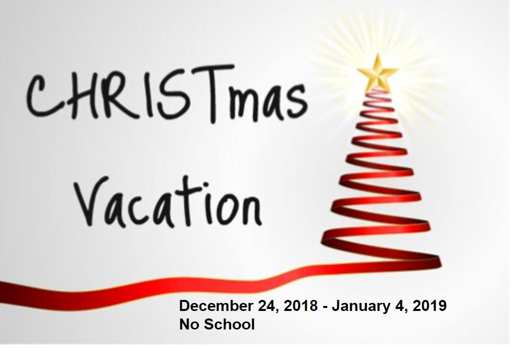 Christmas Break.Christmas Break St Thomas Aquinas Middle School