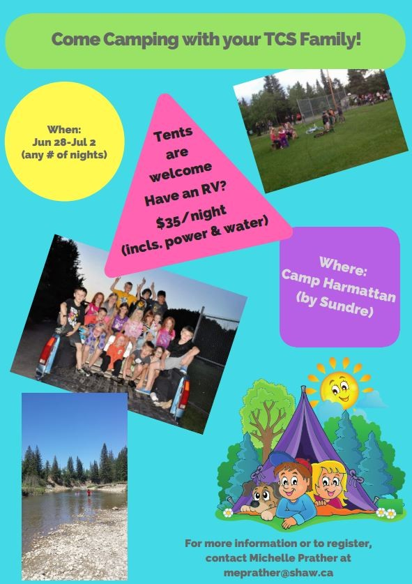 Come Camping with your TCS Family! - June 28 - July 2