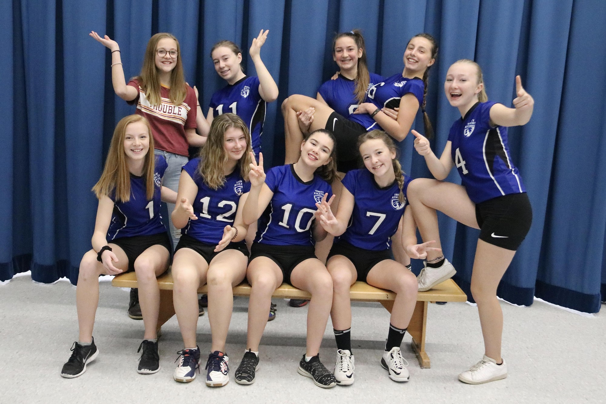 Grade 8 9 Girls Volleyball Trinity Christian School