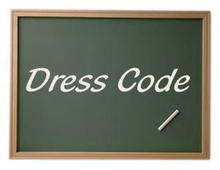 Chalkboard with Dress Code text graphic