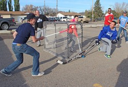 The first-ever  Butte Fest at Picture Butte High School included a spirited street hockey game including students, staff and community members.