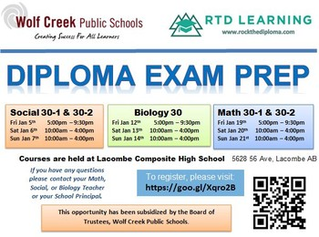 Rock the diploma ponoka secondary campus in an effort to support the work of wcps high schools and to help students prepare for the alberta diploma examinations wolf creek public school has malvernweather Choice Image