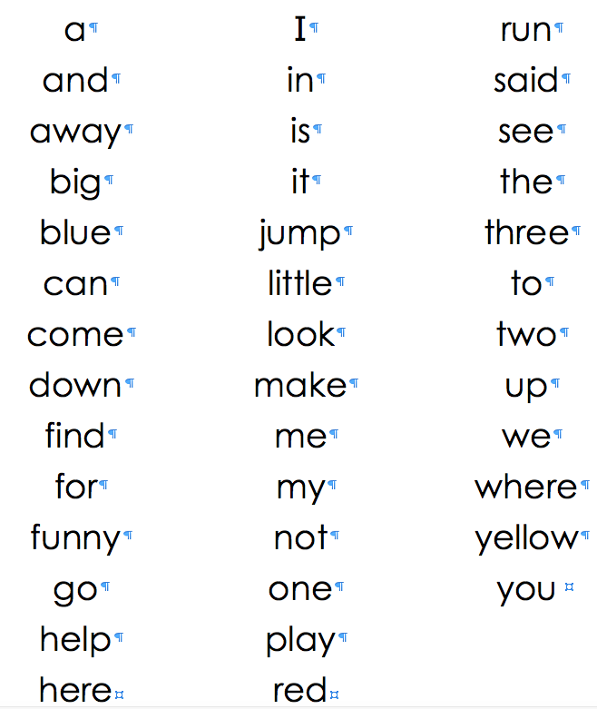believe it or notkindergarten students will be learning these words this